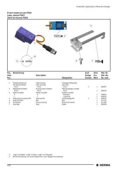 herma fs03 label sensor manual