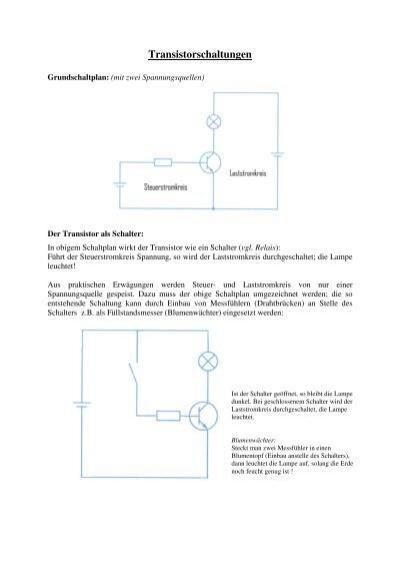 Grundschaltungen des Transistors