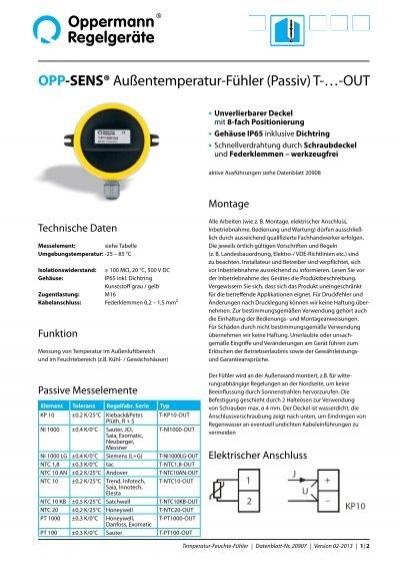 Datenblatt-Nr. 20907 - Oppermann Regelgeräte GmbH