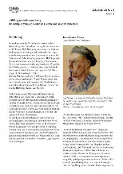Arbeitsblatt Eck 3 Seite 1 Häftlingsselbstverwaltung am Beispiel von ...