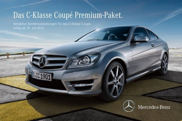 preisliste mercedes benz c klasse coupe c204 premium paket. Black Bedroom Furniture Sets. Home Design Ideas