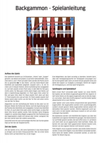 Spielregeln Backgammon