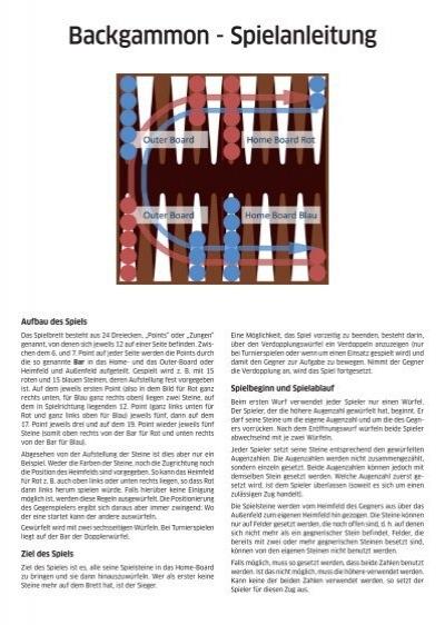 Spielregel Backgammon