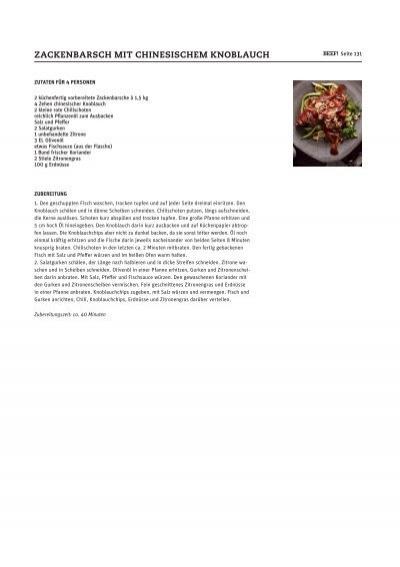 ZACKENBARSCH MIT CHINESISCHEM KNOBLAUCH - Beef