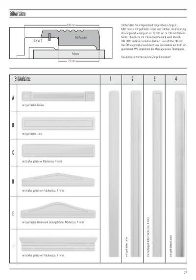 modelle t ren und zargen. Black Bedroom Furniture Sets. Home Design Ideas