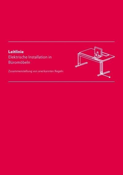 Leitlinie Elektrische Installation in Büromöbeln - Quality Office