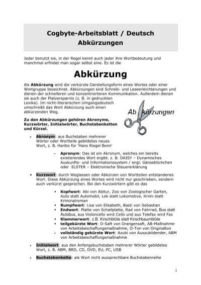 Arbeitsblatt - Cogbyte