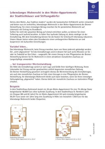 lebenslanges wohnrecht in den wohn bremer heimstiftung. Black Bedroom Furniture Sets. Home Design Ideas