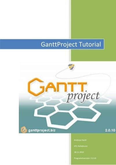 ganttproject tutorial htl hollabrunn