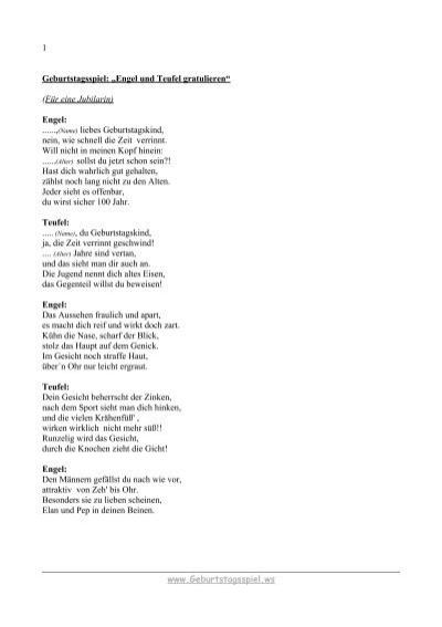 Gedicht zum geburtstag engel und teufel