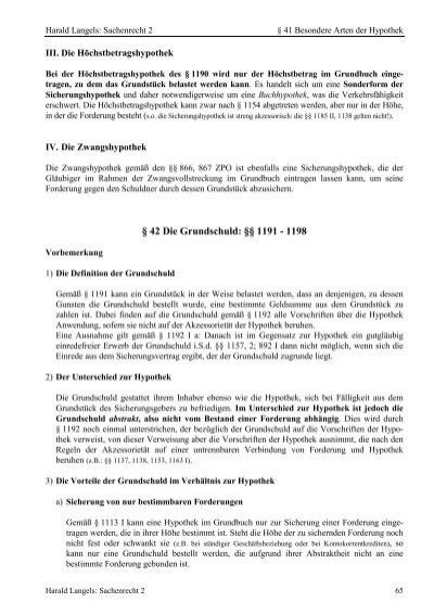 Sachenrecht 2