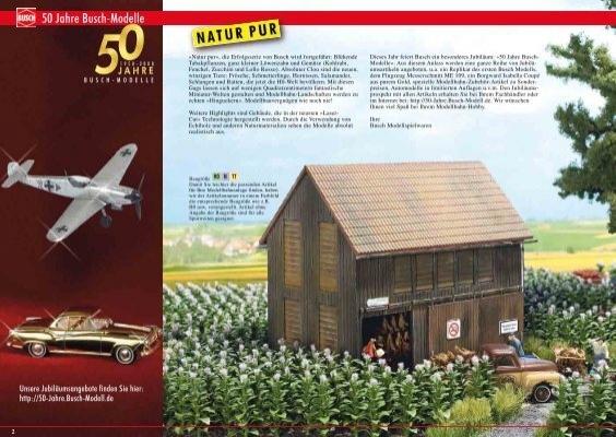 Busch 1221 Tabak Feld mit 56 Pflanzen Natur Pur Bausatz HO 1:87 Neu