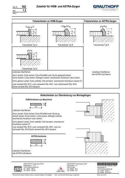 stz 1 2 zubeh r f r hgm und astra zargen grauthoff. Black Bedroom Furniture Sets. Home Design Ideas