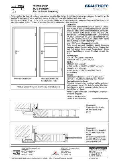 1 1 wohnraumt r hgm standard grauthoff. Black Bedroom Furniture Sets. Home Design Ideas