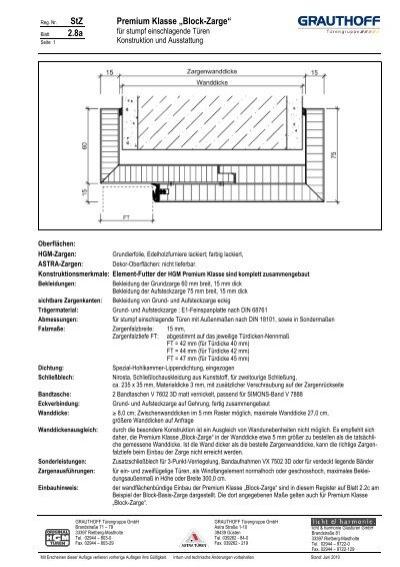 stz premium klasse block zarge grauthoff. Black Bedroom Furniture Sets. Home Design Ideas