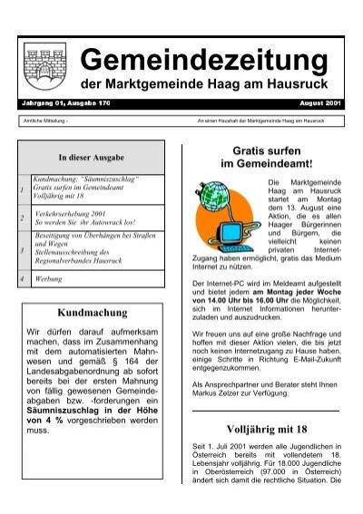 Haag am hausruck er sucht sie markt - Metnitz single freizeittreff