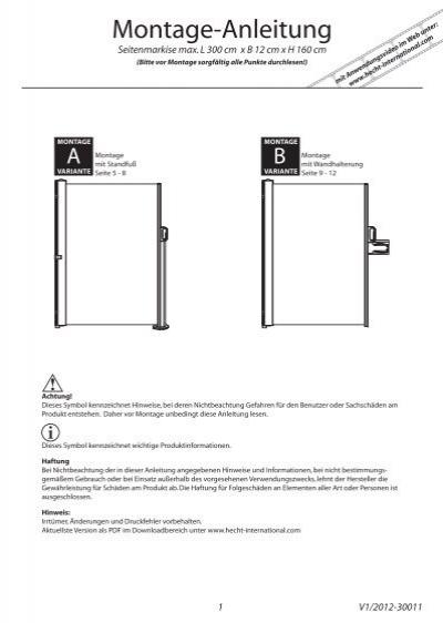 seitenmarkise hecht international gmbh. Black Bedroom Furniture Sets. Home Design Ideas