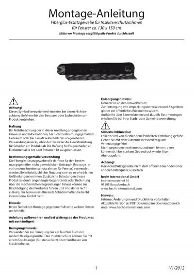 ersatz fiberglasgewebe f r fenster hecht international gmbh. Black Bedroom Furniture Sets. Home Design Ideas
