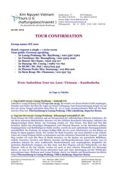 über die Tour-Programme von Frau Helge E. erfahren...