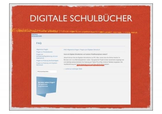 Buchregal Digitale Schulbücher = digitale schulbÜcher