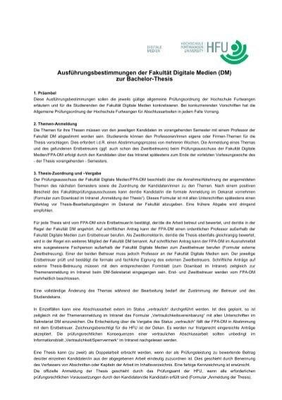 thesis anmeldung hs furtwangen