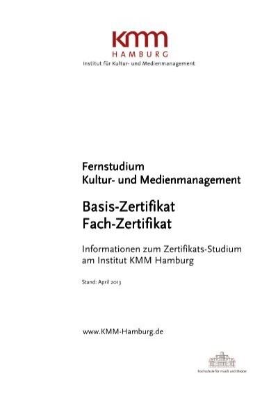 Kompaktinformationen Zertifikat - KMM - Institut für Kultur- und ...