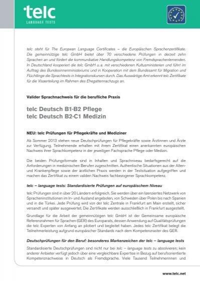 Telc B2 Deutsch Vorbereitung