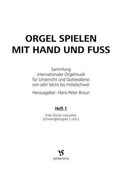 ORGEL SPIELEN MIT HAND UND FUSS Bodensee Musikversand