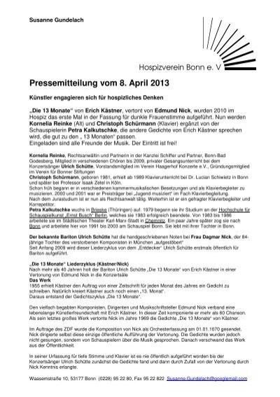 Hospizverein Erich Kãstner Bonn