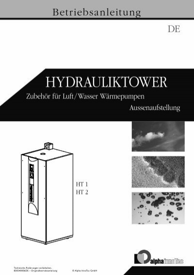 hydrauliktower 2622 kb alpha innotec gmbh. Black Bedroom Furniture Sets. Home Design Ideas