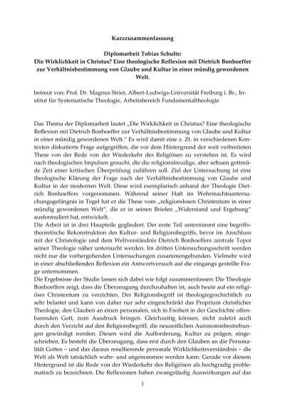 Diplomarbeit Tobias Schulte