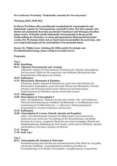 Workshop_funktionelle Anatomie des Nervensystems - Psychologie ...