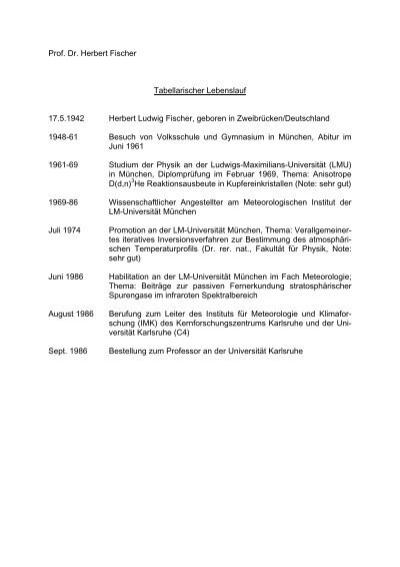 Prof. Dr. Herbert Fischer Tabellarischer Lebenslauf 17.5 ... - IMK-ASF