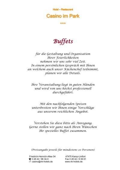 Buffet Vorschläge - NK-Hotels