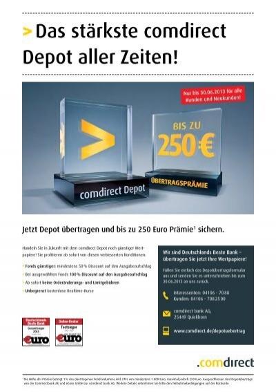 Comdirect Depot übertragen