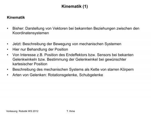 Kinematik (1)