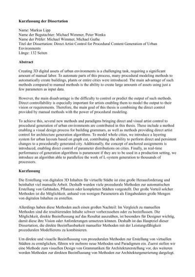 kurzfassung dissertation