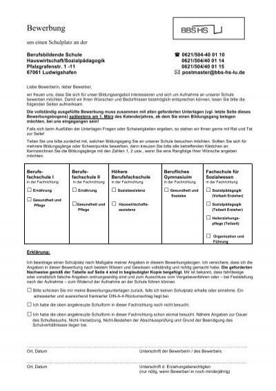 BBS Bewerbung Ludwigshafen - HS