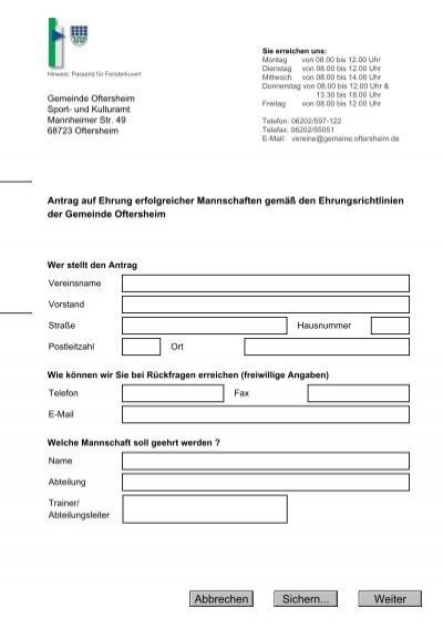 gemeinde oftersheim