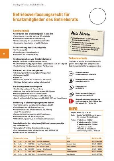 Betriebsverfassungsrecht Fãƒâ¼r Ersatzmitglieder Des Waf Seminare