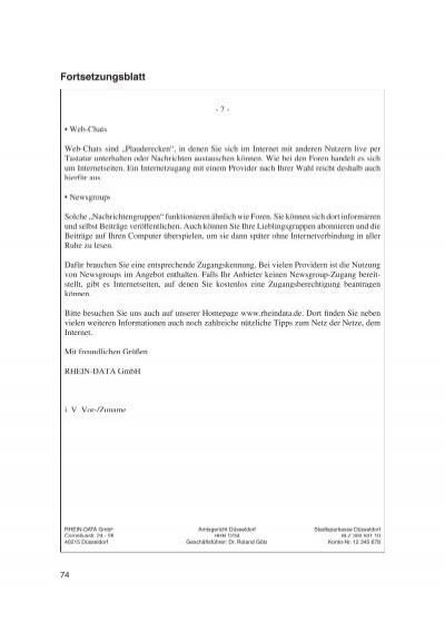 Briefe Mit Häftlingen : Musterbrief mit bezugszei