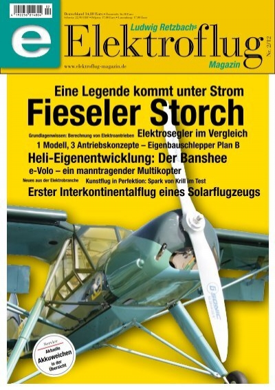 Ludwig Retzbachs Elektroflug Magazin Fieseler Storch (Vorschau)