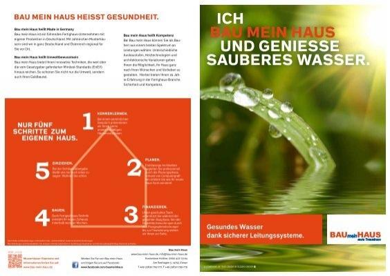 Bau mein Haus Folder Wasser ohne Blei A3 - bei Bau mein Haus