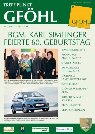 Single-Stammtisch - Stadtgemeinde Gfhl - Gfhl - Freizeit