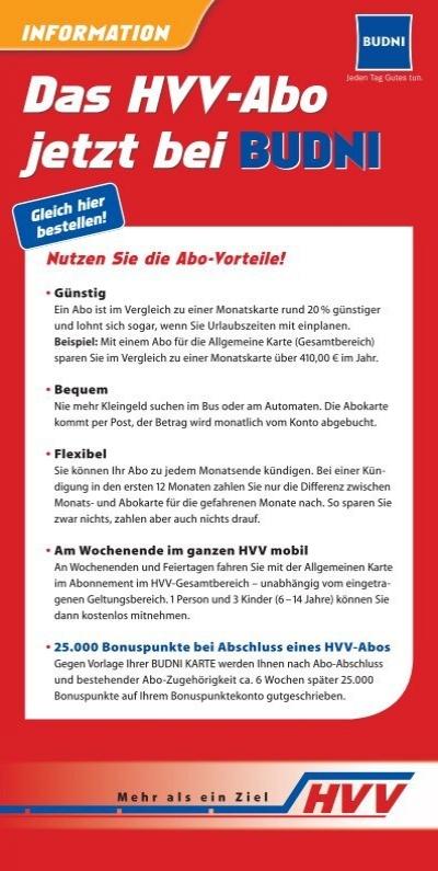 hvv abo karte Flyer zur Abo Werbeaktion   HVV