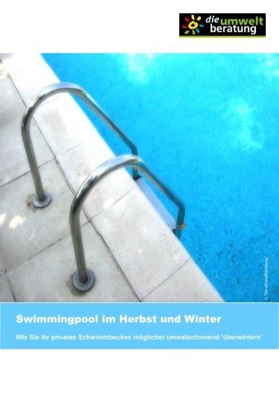 Swimmingpool im herbst und winter umweltberatung for Swimmingpool im angebot