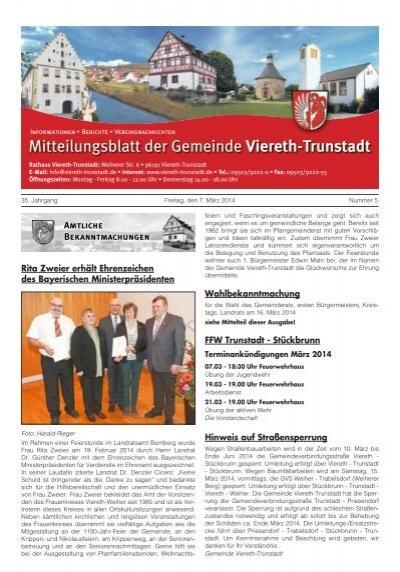 Mitteilungsblatt Viereth 07 Marz 2014