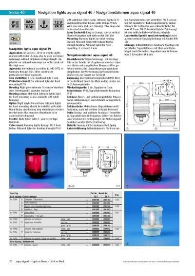 series 40 navigation lights aqua signal 40 busse. Black Bedroom Furniture Sets. Home Design Ideas