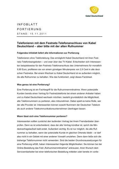 kabel deutschland portierungsformular