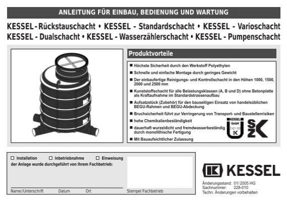KESSEL-Rückstauschacht • KESSEL - Standardschacht • KESSEL ...